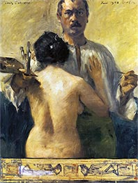Lovis Corinth | Self-Portrait with Model, 1903 | Giclée Canvas Print