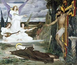 Luc Olivier Merson | The Vision Legend of the 14th Century, 1872 | Giclée Canvas Print