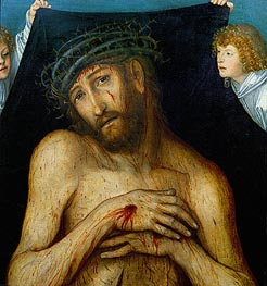 Lucas Cranach | Christ with the Crown of Thorns | Giclée Canvas Print