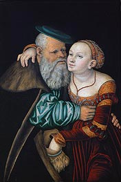 Lucas Cranach | The Uneven Couple (The Old Lover) | Giclée Canvas Print