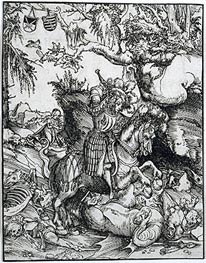 Lucas Cranach | St. George Slaying the Dragon | Giclée Paper Print