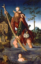 Lucas Cranach | Saint Christopher | Giclée Canvas Print