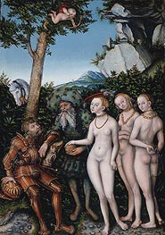 Lucas Cranach | Judgment of Paris | Giclée Canvas Print