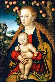 Lucas Cranach | The Virgin and Child under an Apple Tree | Giclée Canvas Print