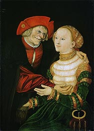 Lucas Cranach | The Ill-Matched Couple | Giclée Canvas Print