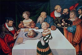 Lucas Cranach | The Feast of Herod | Giclée Canvas Print
