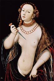 Lucas Cranach | The Suicide of Lucretia | Giclée Canvas Print