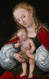 Lucas Cranach | Madonna and Child with Grapes | Giclée Canvas Print