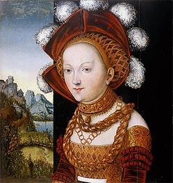 Lucas Cranach | A Finely Dressed Young Lady | Giclée Canvas Print