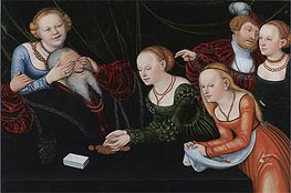 Lucas Cranach | Old Man Beguiled by Courtesans | Giclée Canvas Print