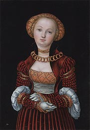Lucas Cranach | Portrait of a Woman | Giclée Canvas Print