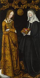 Lucas Cranach | Saints Christina and Ottilia (The St Catherine Altarpiece) | Giclée Canvas Print