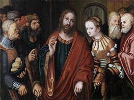Lucas Cranach | Christ and the Adulteress | Giclée Canvas Print