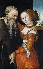 Lucas Cranach | An Ill-Matched Pair | Giclée Canvas Print