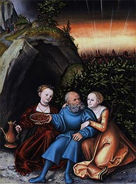 Lucas Cranach | Lot and his Daughters | Giclée Canvas Print