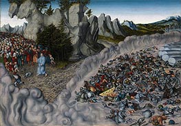 Lucas Cranach | The Pharaoh's Hosts Engulfed in the Red Sea | Giclée Canvas Print