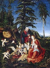 Lucas Cranach | Rest on the Flight into Egypt | Giclée Canvas Print