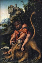 Lucas Cranach | Samson Battling with the Lion | Giclée Canvas Print