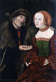 Lucas Cranach | An Ill-Matched Couple | Giclée Canvas Print