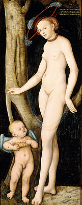 Venus and Cupid Stealing Honey, 1531 | Lucas Cranach | Painting Reproduction