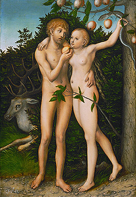 The Fall, a.1537 | Lucas Cranach | Painting Reproduction