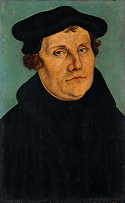Portrait of Martin Luther, 1529 | Lucas Cranach | Painting Reproduction