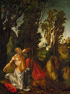 The Penitence of St. Jerome, 1502 | Lucas Cranach | Giclée Canvas Print
