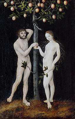 Adam and Eve, 1521 | Lucas Cranach | Giclée Canvas Print