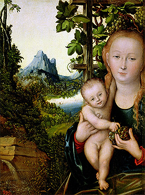 Virgin and Child, c.1520 | Lucas Cranach | Giclée Canvas Print
