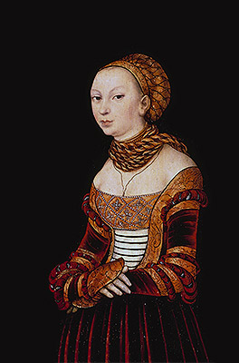 Portrait of a Young Woman, 1525 | Lucas Cranach | Giclée Canvas Print