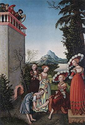 David and Bathsheba, 1534 | Lucas Cranach | Giclée Canvas Print