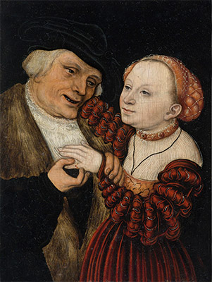 The Ill-Matched Lovers, undated | Lucas Cranach | Painting Reproduction