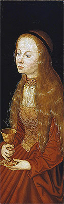 St Barbara, undated | Lucas Cranach | Painting Reproduction
