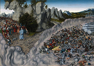 The Pharaoh's Hosts Engulfed in the Red Sea, 1530 | Lucas Cranach | Giclée Canvas Print