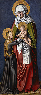 The Virgin and Child with St Anne, c.1515 | Lucas Cranach | Giclée Canvas Print