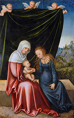 The Virgin and Child with St Anne, c.1520 | Lucas Cranach | Giclée Canvas Print