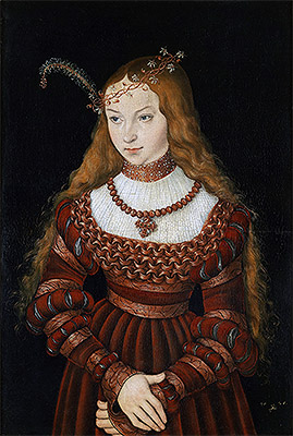 Portrait of Princess Sibylle of Cleve, 1526 | Lucas Cranach | Giclée Canvas Print