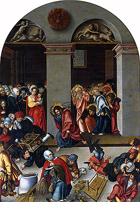Expulsion of the Money-Changers from the Temple, c.1510 | Lucas Cranach | Giclée Canvas Print