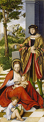 The Altarpiece of the Holy Kinship (Left Panel), 1509 | Lucas Cranach | Painting Reproduction