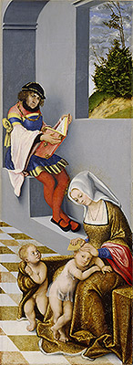 The Altarpiece of the Holy Kinship (Right Panel), 1509 | Lucas Cranach | Painting Reproduction