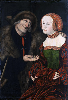 An Ill-Matched Couple, c.1520/40 | Lucas Cranach | Painting Reproduction