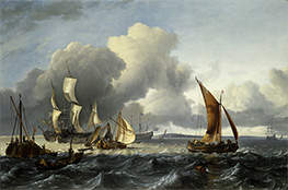 Bakhuysen | The Merchant Shipping Anchorage off Texel Island, 1665 | Giclée Canvas Print