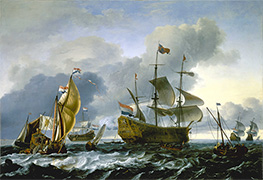 Bakhuysen | Dutch attack on the Medway: the Royal Charles carried into Dutch Waters, 12 June 1667, 1667 | Giclée Canvas Print