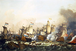 Bakhuysen | The Battle of Barfleur, 19 May 1692, 1693 | Giclée Canvas Print