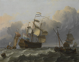 Bakhuysen | A Dutch Flagship with a Yacht Under Her Stern, 1694 | Giclée Canvas Print