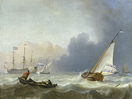 Bakhuysen | Rough Sea with a Dutch Yacht, 1694 | Giclée Canvas Print