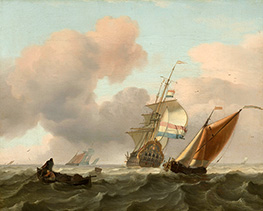 Bakhuysen | Rough Sea with Ships, 1697 | Giclée Canvas Print