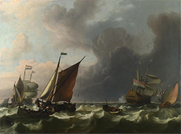 Bakhuysen | Dutch Men-of-war off Enkhuizen, 1683 | Giclée Canvas Print