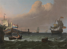 Bakhuysen | Dutch Men-of-war entering a Mediterranean Port | Giclée Canvas Print