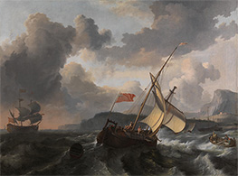 Bakhuysen | An English Vessel and a Man-of-war in a Rough Sea, c.1680/89 | Giclée Canvas Print